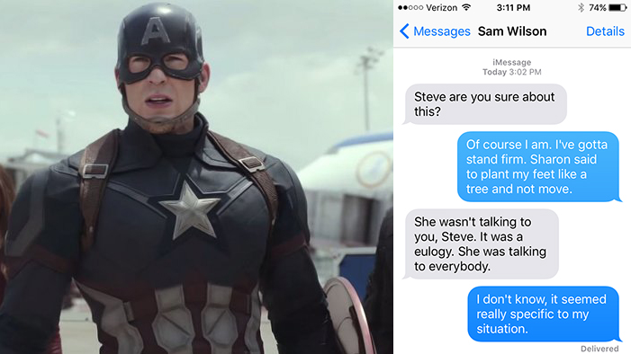 If the Avengers Could Text in <em>Captain America: Civil War</em>