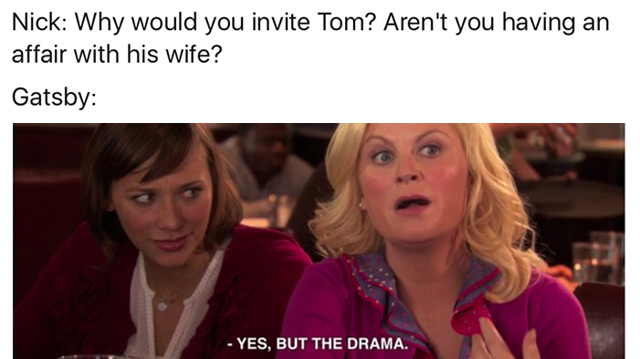 A Roundup of the Funniest <i>Great Gatsby</i> Memes You'll Ever See